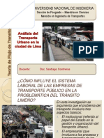 Analisis de Transport en Lima