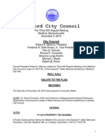 Medford City Council meeting Tuesday, December 3, 2013