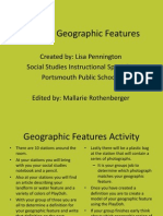 key geographic features