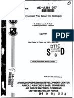 Hypersonic Wind Tunnel Testing
