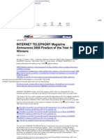 ''Product of the Year'', TMC, Internet Telephony Magazine, 2006