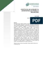 Gestao Da Qualidade Na Administracao Publica Brasileira. 2012