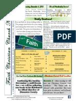 Faith Christian Church Burlington NC November 27, 2013 News