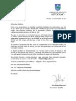 Carta Senderismo Noviembre
