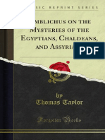 Iamblichus on the Mysteries of the Egyptians Chaldeans and Assyrians