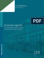 L' Economia Delle Regioni Italiane. Banca d'Italia, Novembre 2013