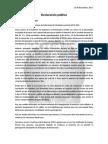 Declaración pública Ingeniería Civil Biomédica frente a impugnación de mesa