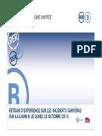 Presentation de La SNCF Et de La RATP Au Retour d Experience Sur Les Incident Survenus Sur Le RER B Le 28 Octobre 2013