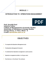 1. Introduction to Operations Management