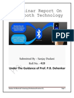 A Seminar On Bluetooth Technology