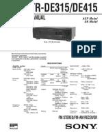 Sony Str De315 415 Sm