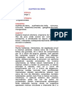 Açafrão-da-Índia - Curcuma longa L. - Ervas Medicinais – Ficha Completa Ilustrada