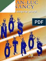 Jean-Luc Nancy, Ser Singular Plural (1996)