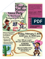 Father/Daughter Western Hoedown Flyer and Registration Form