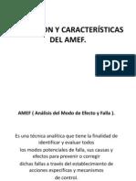 DEFINICION Y CARACTERÍSTICAS DEL AMEF