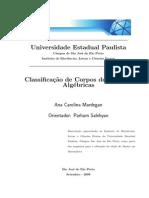 Classificação de corpos de funções algébricas Dissert UNESP 2009