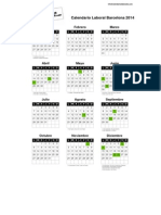 Calendario Laboral Barcelona 2014