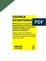 Amnistía informe sobre Guinea