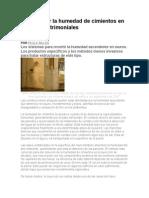 Cómo tratar la humedad de cimientos en edificios patrimoniales
