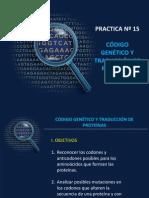 Código genético y Traducción de Proteinas