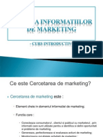 Analiza Informatiilor de Marketing