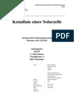 Messbericht Kennlinie Einer Solarzelle