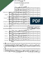 Brahms - Concerto for Violin & Cello in a Minor Op.102 (Orchestral Score 68s)