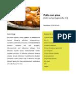 Pollo Con Pina - Huhn auf portugiesische Art