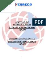Manual de Instrucciones VR-200