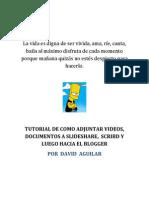 TUTORIAL DE COMO ADJUNTAR VIDEOS, DOCUMENTOS A SLIDESHARE,  SCRIBD Y LUEGO HACIA EL BLOGGER.docx