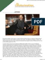 O début de Barroso – Os Constitucionalistas
