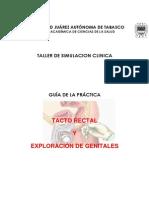 Guia de Exploracion de Genitales y Tacto Rectal Taller de Simulacion