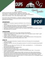 Fg Quick Guide - Focusgroupsds