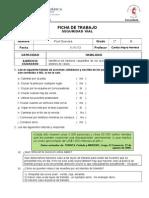 Ficha de Trabajo Seguridad Vial 2