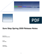 Sure Step Spring 2009 Release Notes