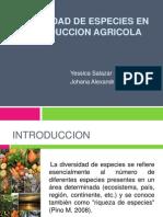 Diversidad de Especies en La Produccion Agricola