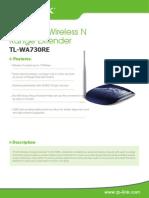 TL-WA730RE _V2.0_Datasheet