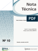 IPEA - Nota técnica 10
