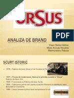 Analiza de Brand Ursus Romania