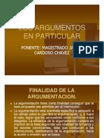 Argumentacion juridica. Los argumentos en particular - Javier Cardoso Chávez