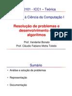 Aulas - Análise de problemas e desenvolvimento de algoritmos