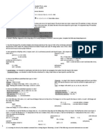 VHDL Cheat Sheet Exam 1