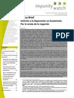 Derecho a la Reparación en Guatemala