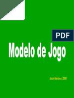 Modelo de Jogo Periodizacao Tatica