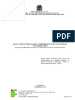 Regulamento Para Eleicoes Dos Representantes Do CONSUP