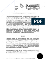 Nenad Tanaskovic - 2nd Instance Verdict