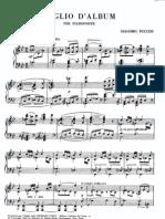 Puccini Foglio d'Album