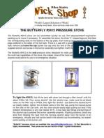 Kerosene PRESSURE STOVE Manual