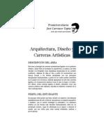 Arquitectura, Diseño y Carreras Artísticas