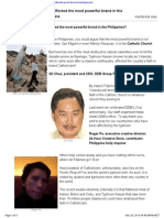 How Has Typhoon Haiyan Affected the Most Powerful Brand in the Philippines - Mumbrella Asia, 28 Nov 2013